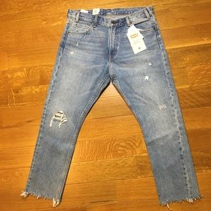 Levi's 505 c cropped torned jeans sz 28